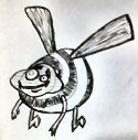 cartoon picture of a bee