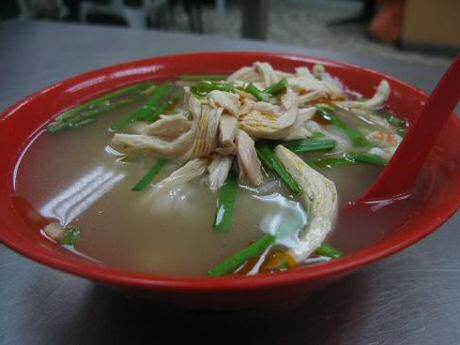 healthy chicken noodle soup without oil nor prawns