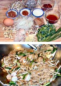Thai fried noodles: pad thai