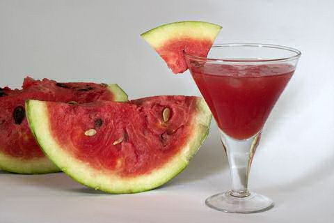 Vodka soaked watermelon