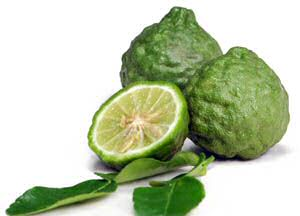 Kaffir lime and the commonly available kaffir lime leaves