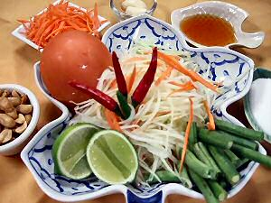 papaya salad negative calorie diet recipe